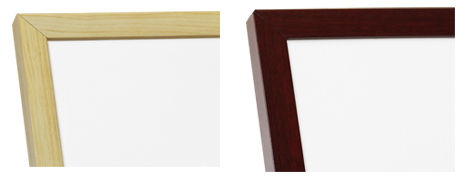 Birch and cherry wooden frames