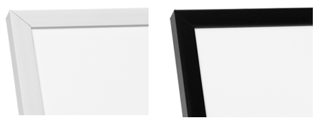 White and black wooden frames